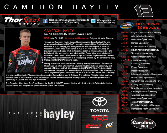 NASCAR Hero Card Design | Cabinets By Hayley - Back