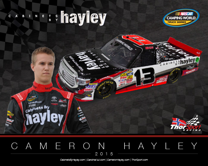 NASCAR Hero Card Design | Cabinets By Hayley - Front