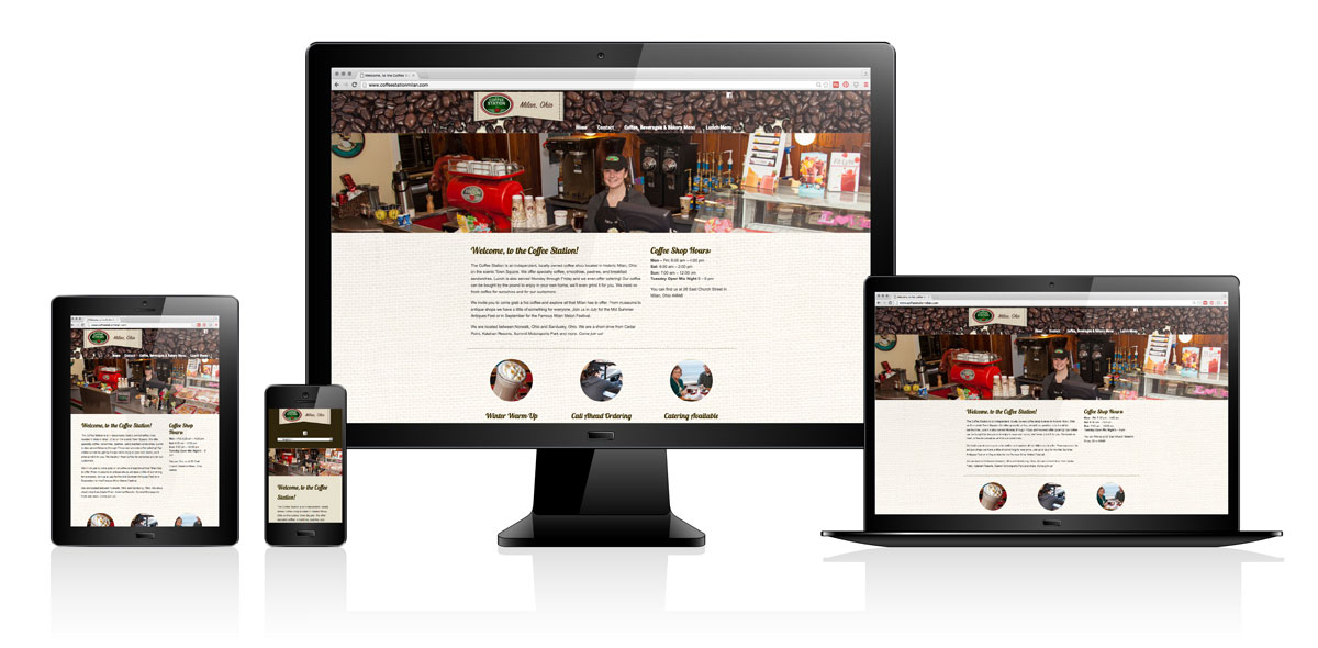 Milan Coffee Station | Website Design