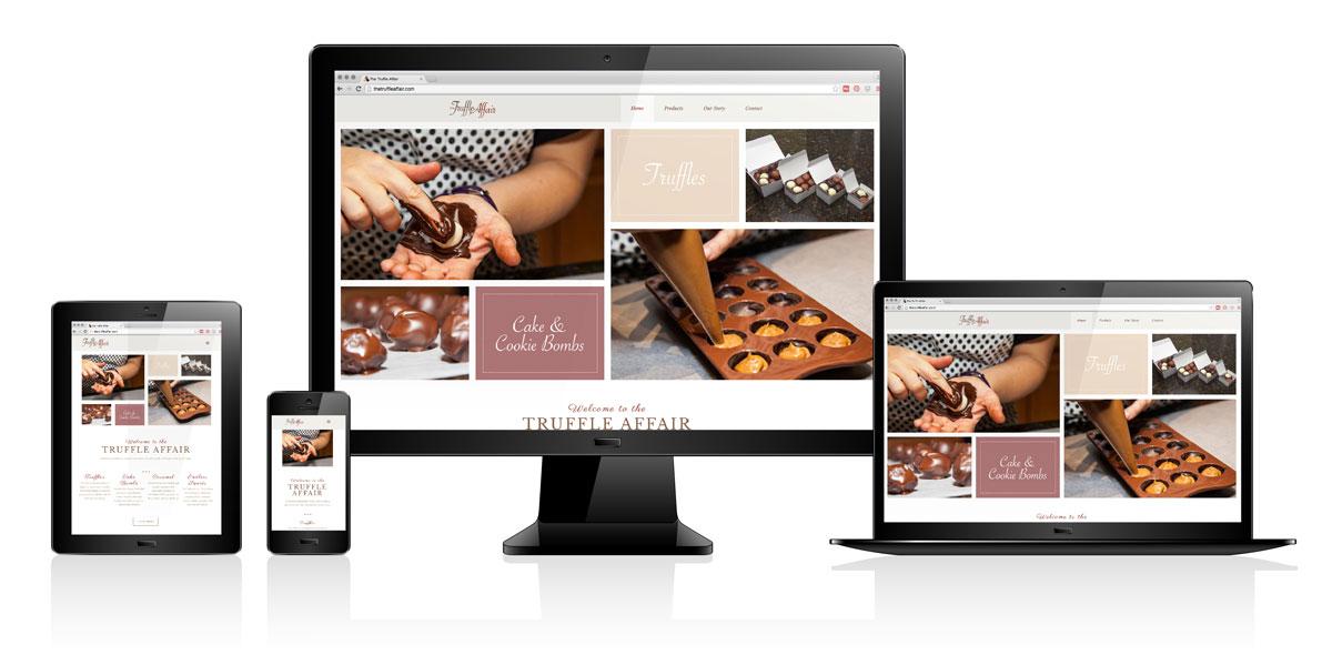 The Truffle Affair   Website Design