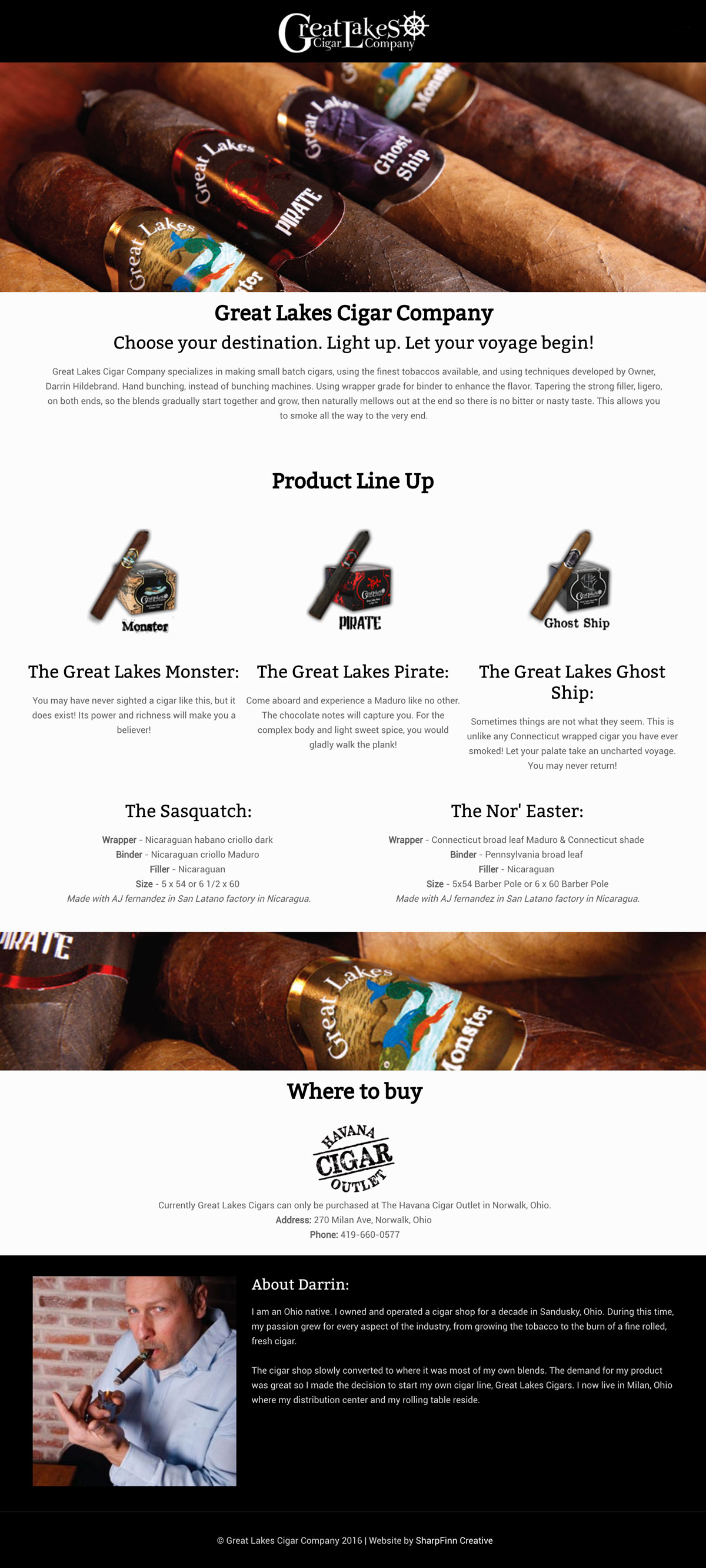 Great Lakes Cigar Co. | Website Design
