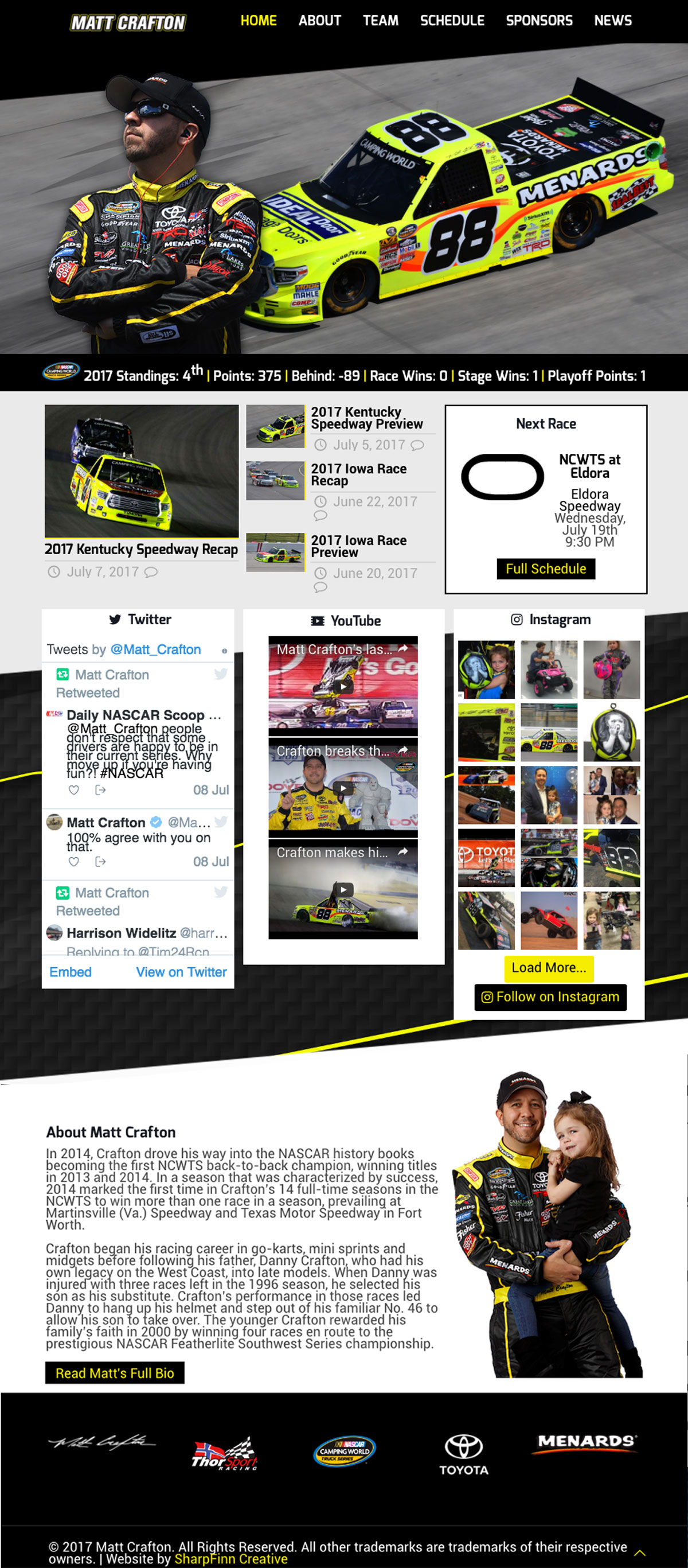 Matt Crafton | Website Design