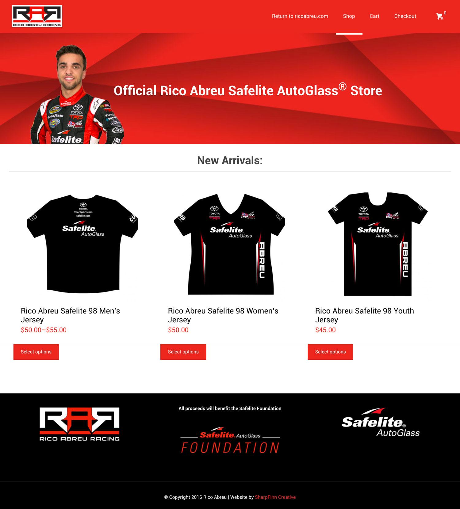 Safelite Quote: Rico Abreu Merchandise Online Store