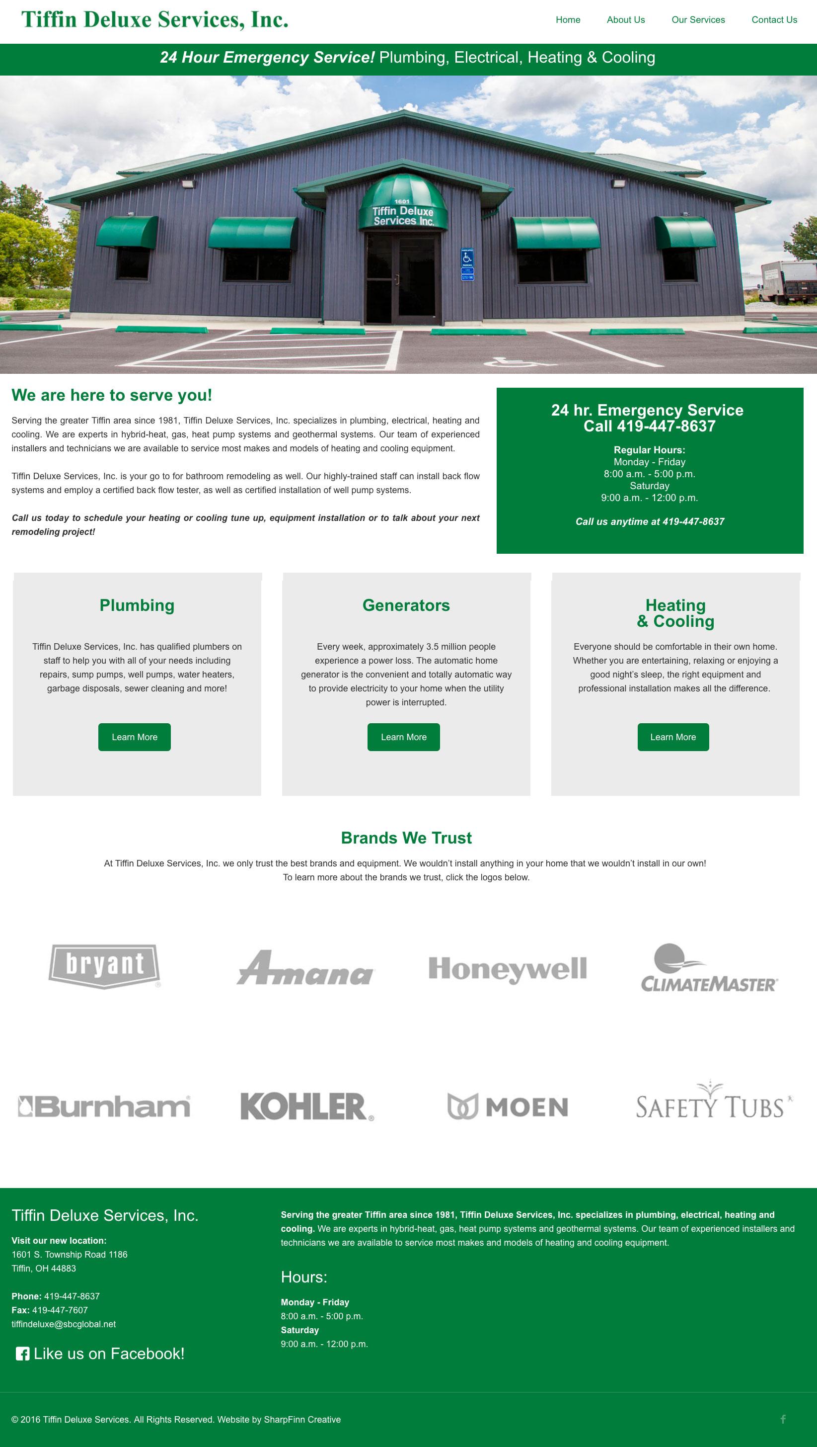 Tiffin Deluxe Services, Inc. | Website Design