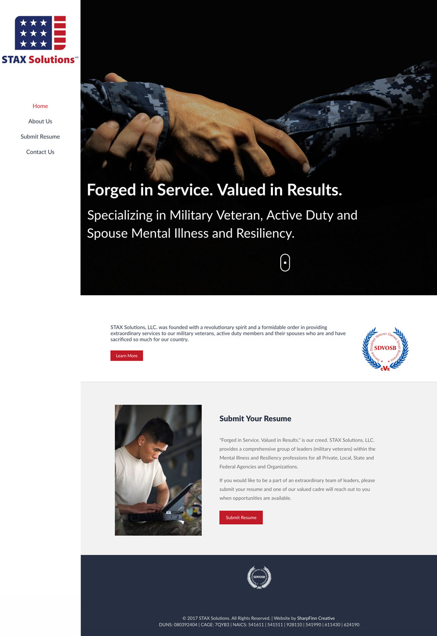 Veterans 4 Hire, LLC | Website Design