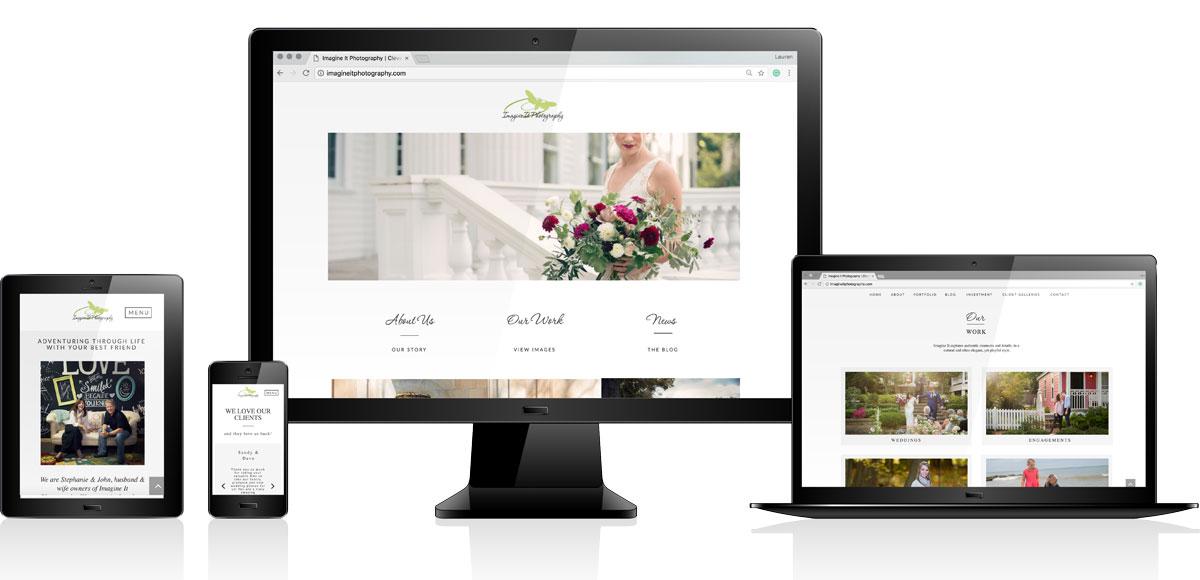 Imagine It Photography   Website Design