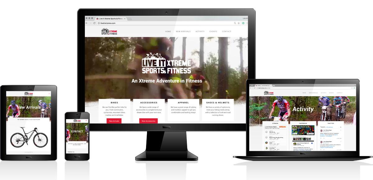 Live It Xtreme   Website Design