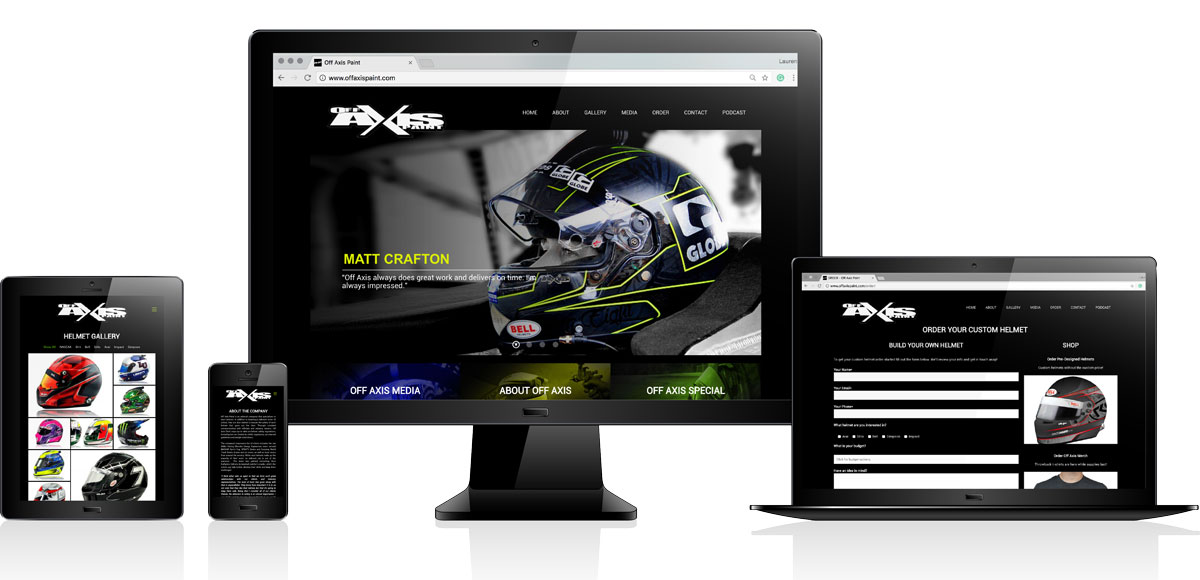Off Axis Paint | Website Design