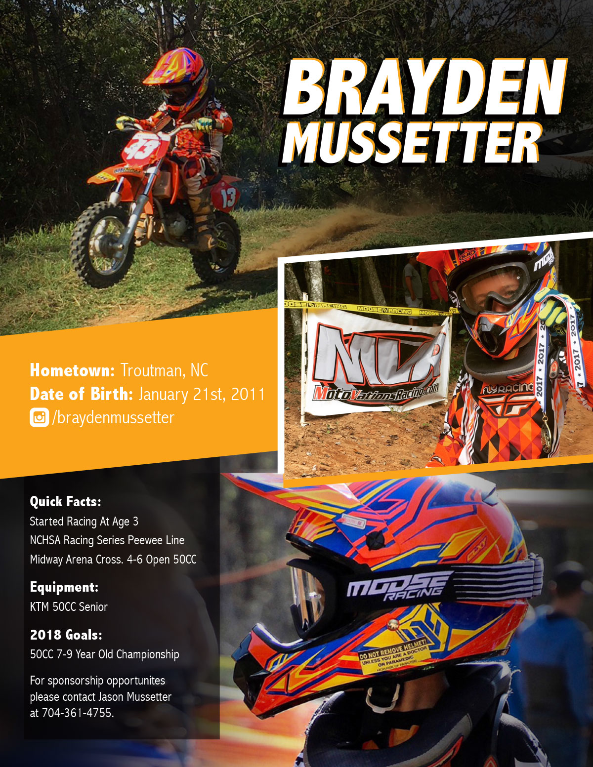 Brayden Mussetter Athlete Hero Card