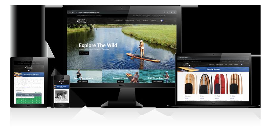 ThreeBrothersBoards Website Design Illustration
